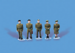 5116 Modelscene: OO PEOPLE  Army Personnel